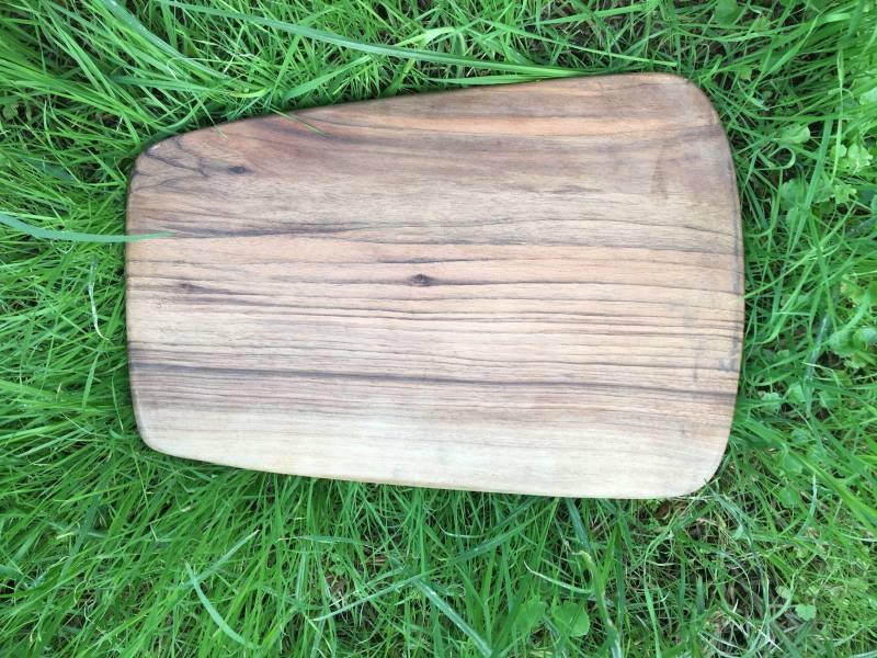 Brown Walnut Wood Plate