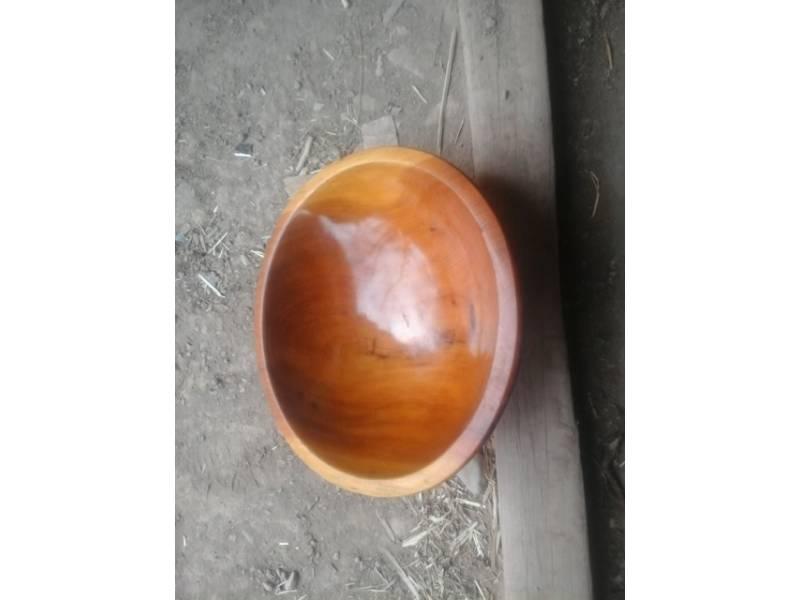 Orange Juniper Wood Hand Carved Bowl