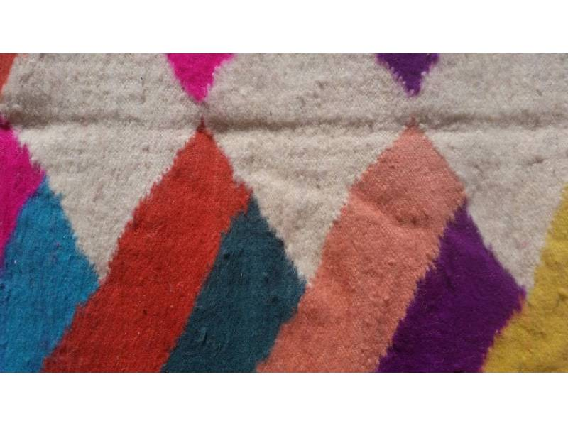 Colored  Flatweave Rug