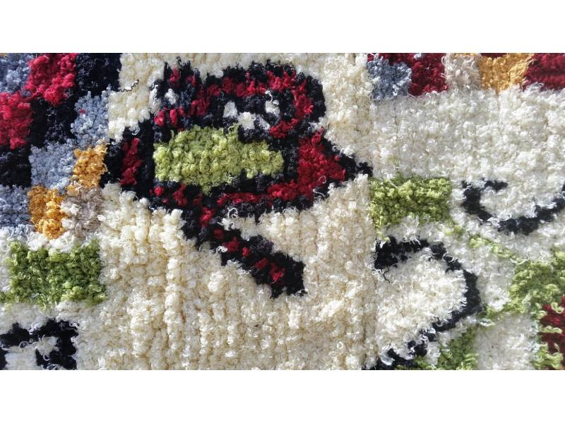 Colored Cotton and Rag Fabric 10183