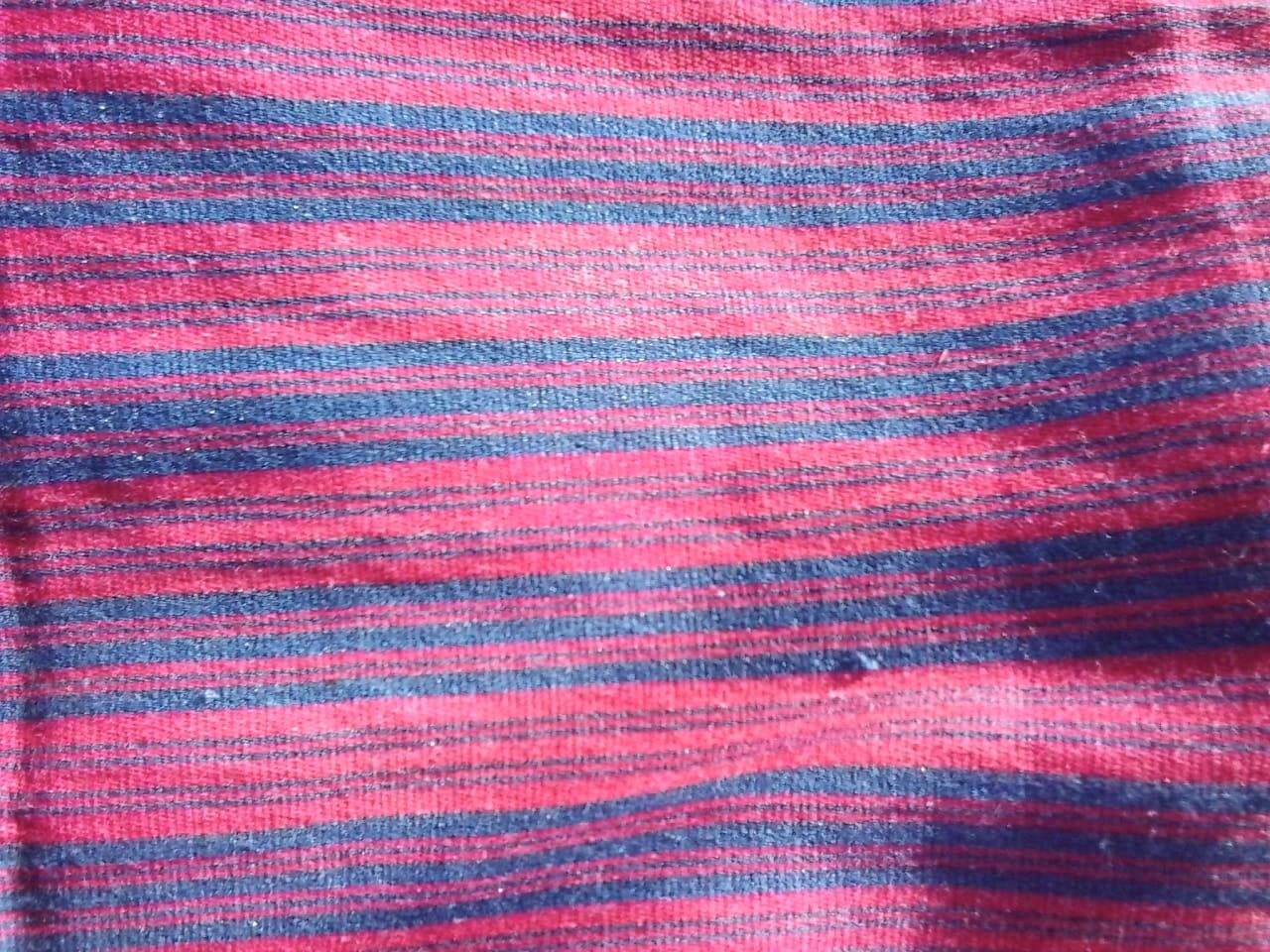 Flatweave Fabric  Light Blue Morocco