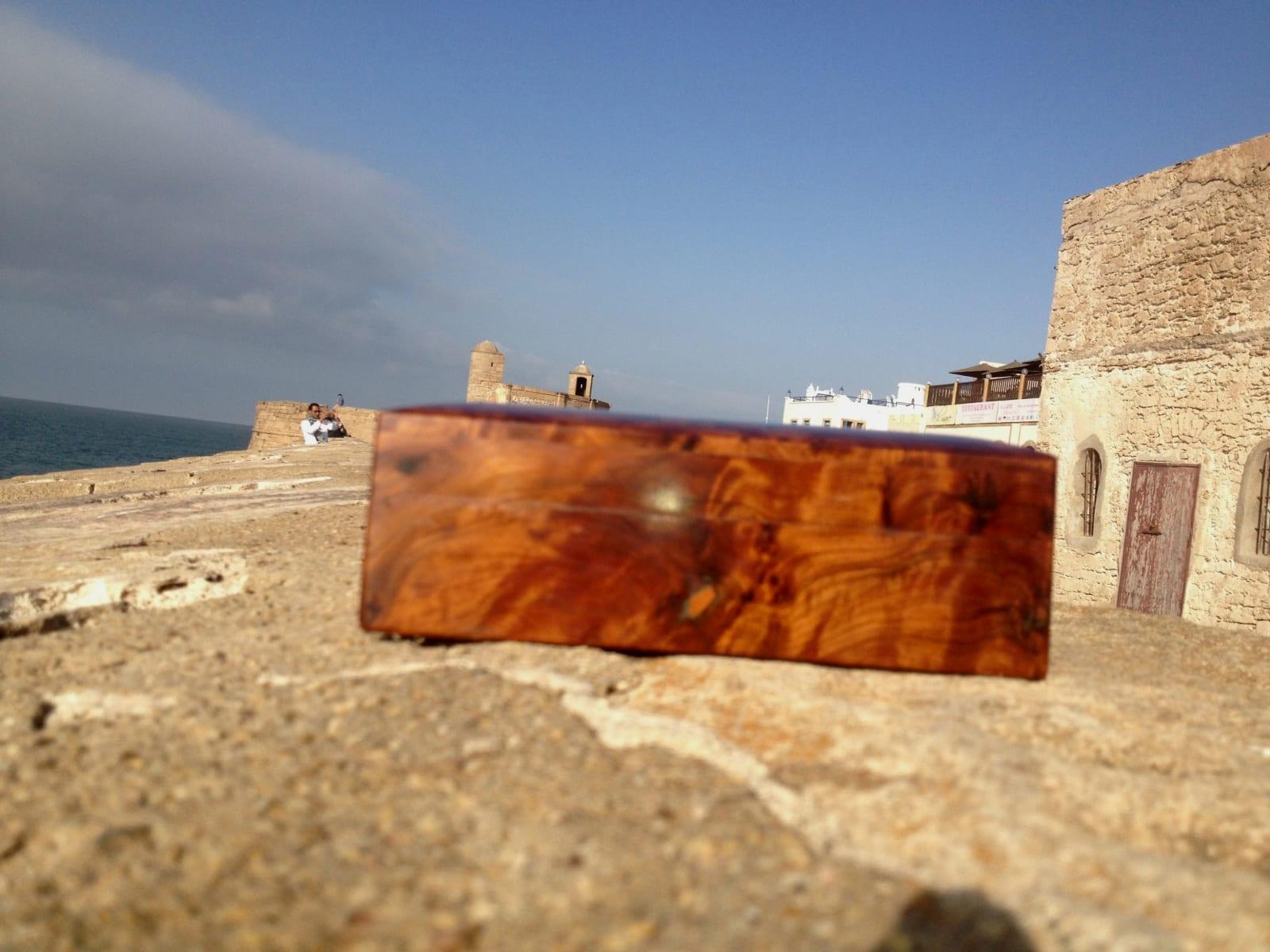 Box Thuja Wood and Aluminum Red, Orange Morocco