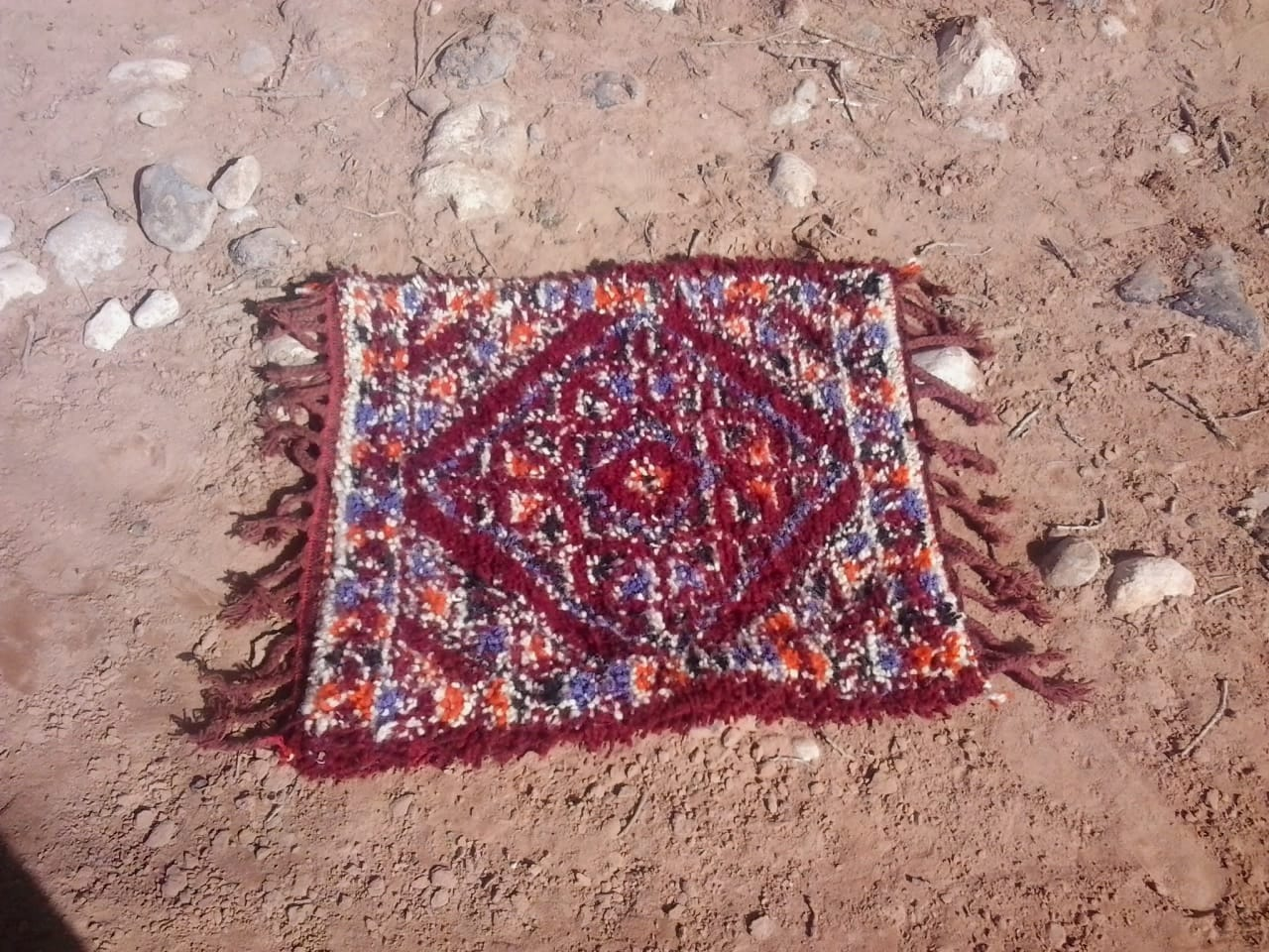 1250 Tadout - Wool and Cotton String Red Morocco