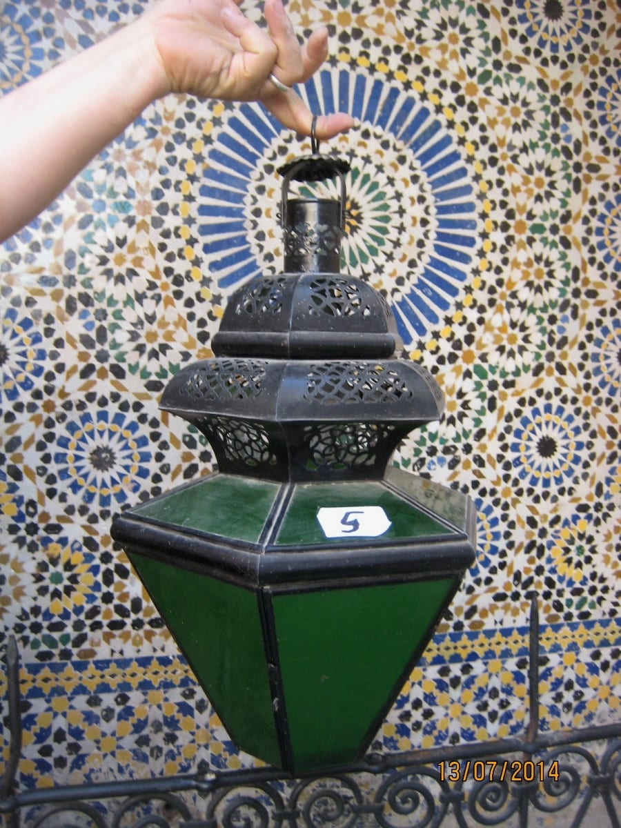 Chandelier  Green, Black Morocco
