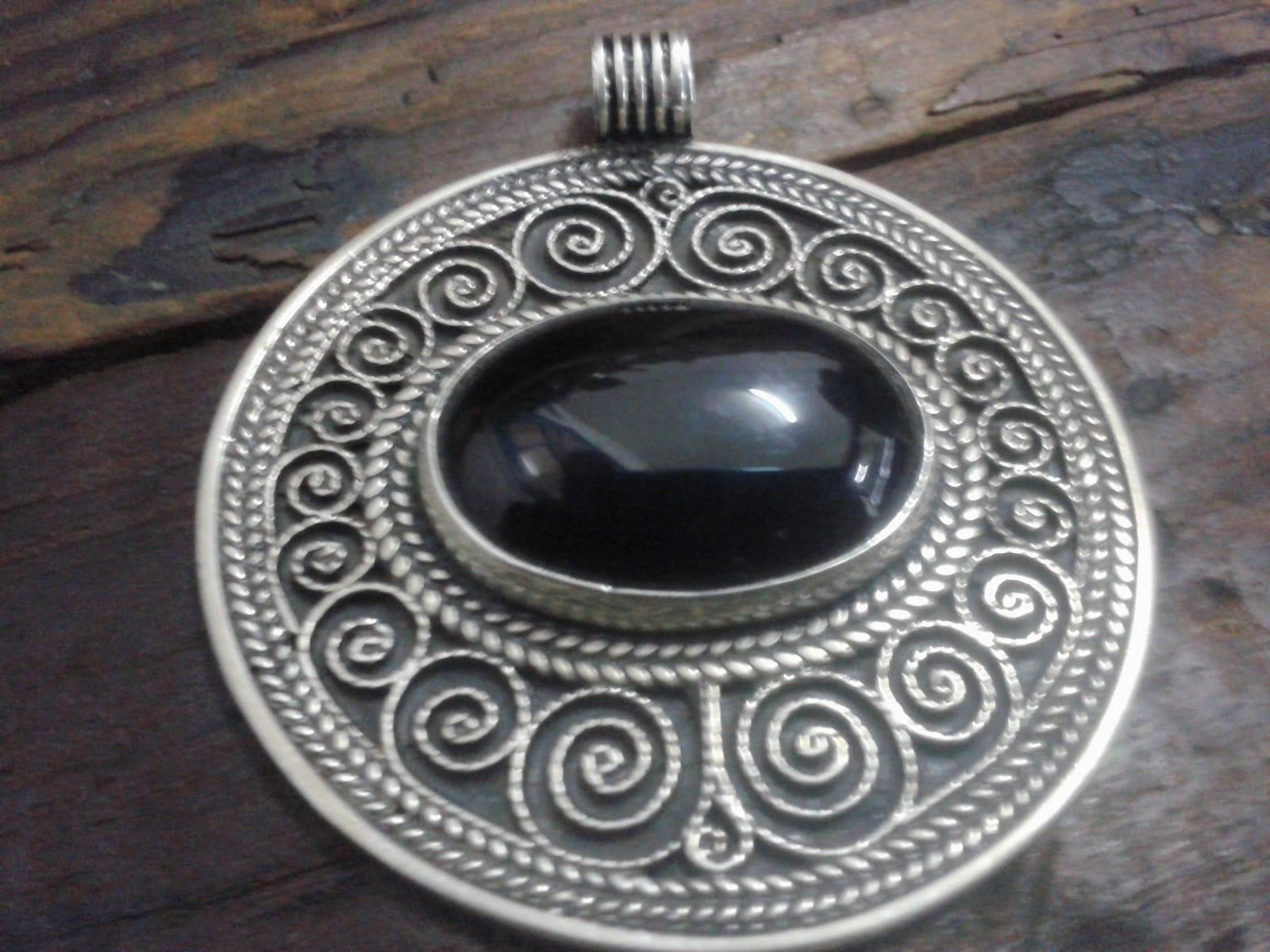 Necklace 800 Tiznit Silver Black Morocco