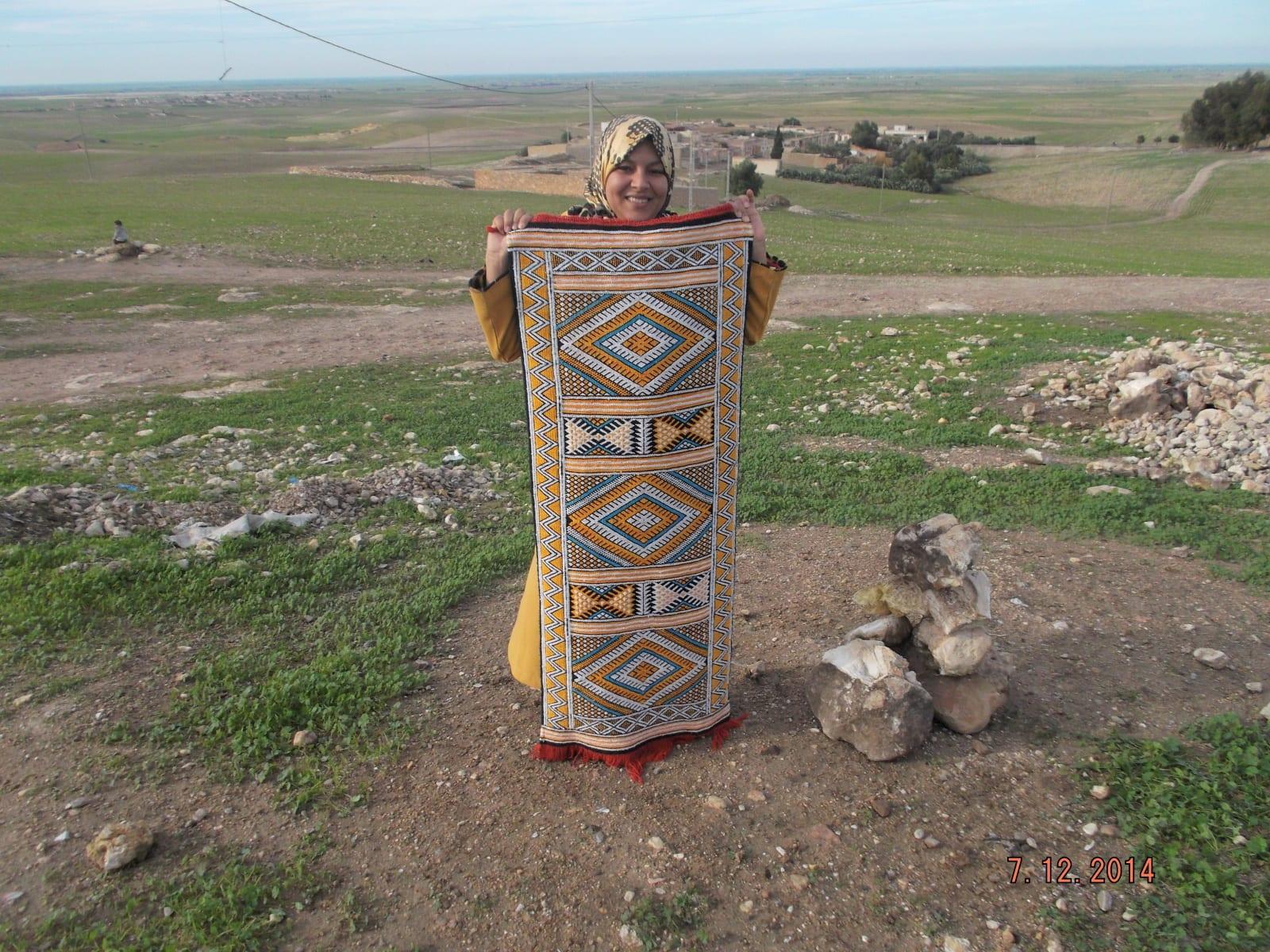 Hanbel  Sedda  and Sabra Thread  Colored Morocco