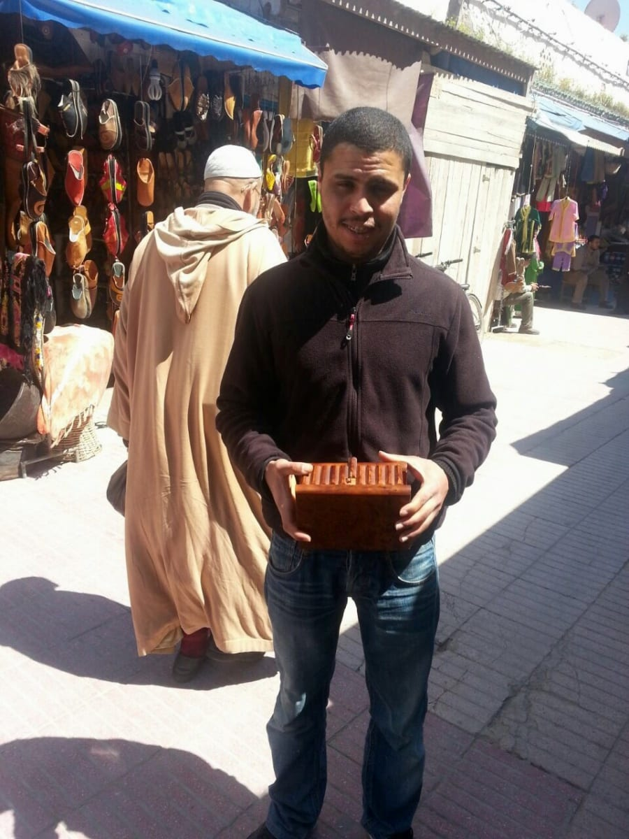 Trick Keepsakes Box Thuja Wood Orange Morocco