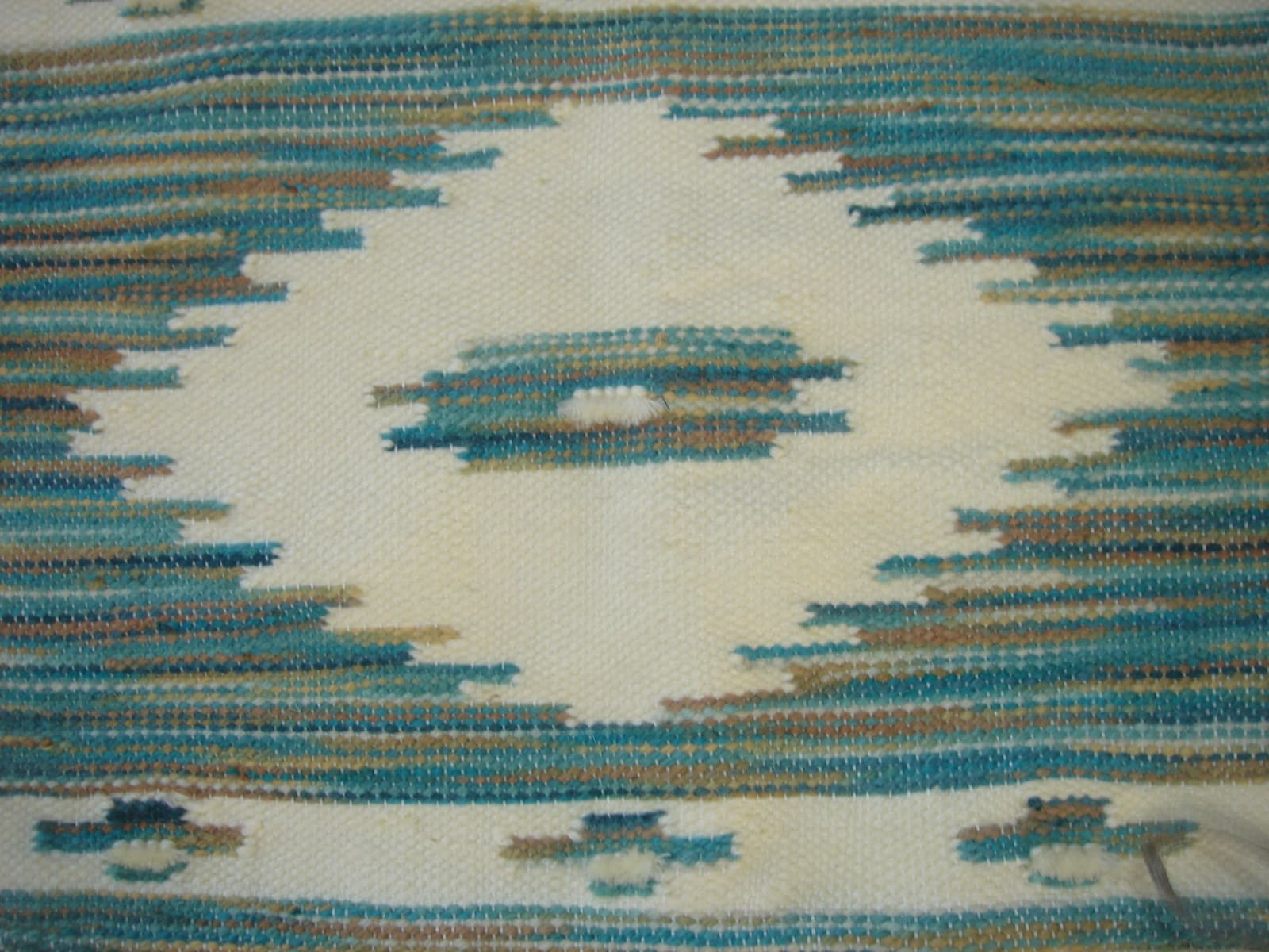 Pile Knot Rug Natural Dyes Green, Brown Morocco