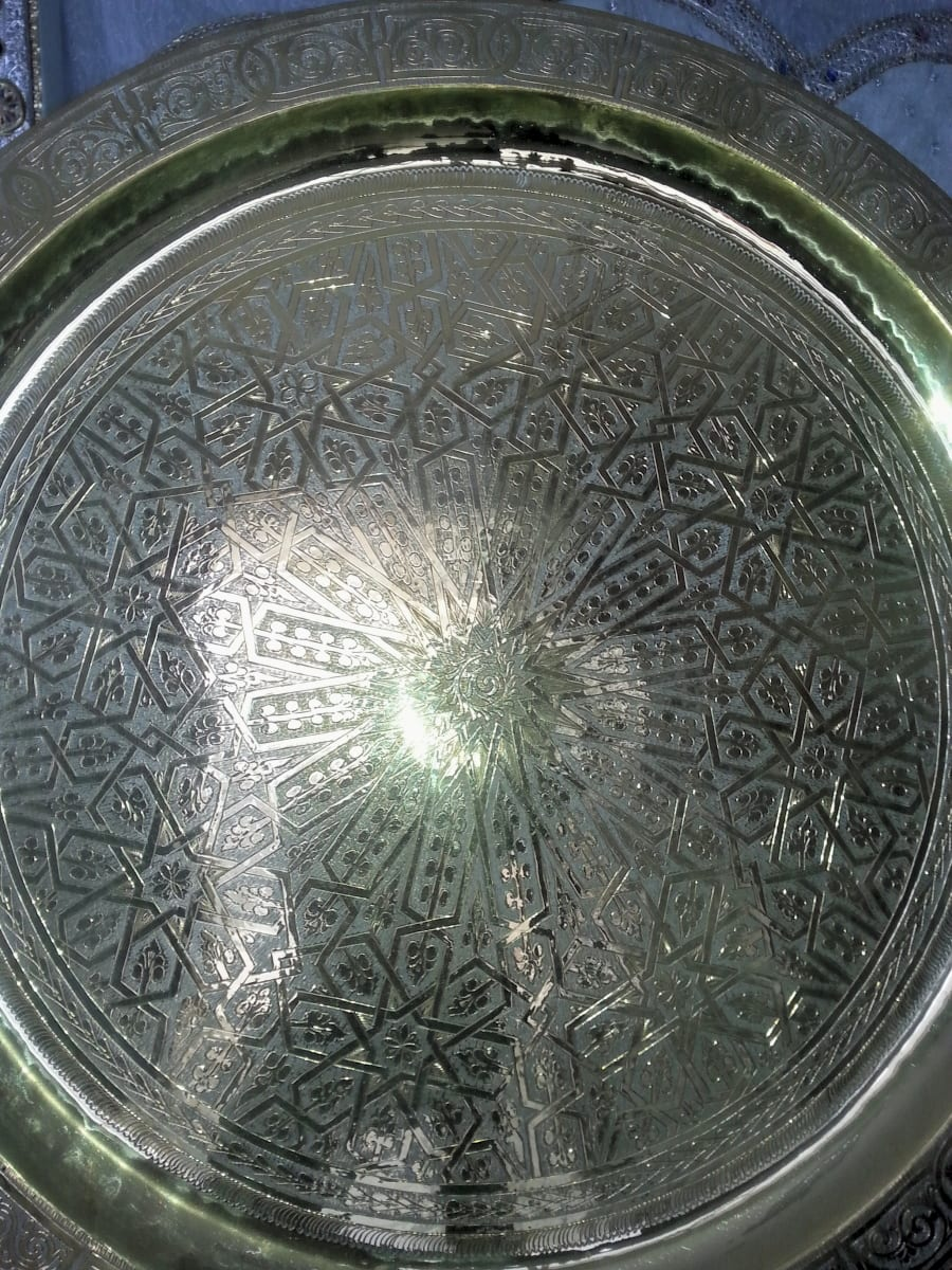 Plate Yellow Copper Yellow Morocco