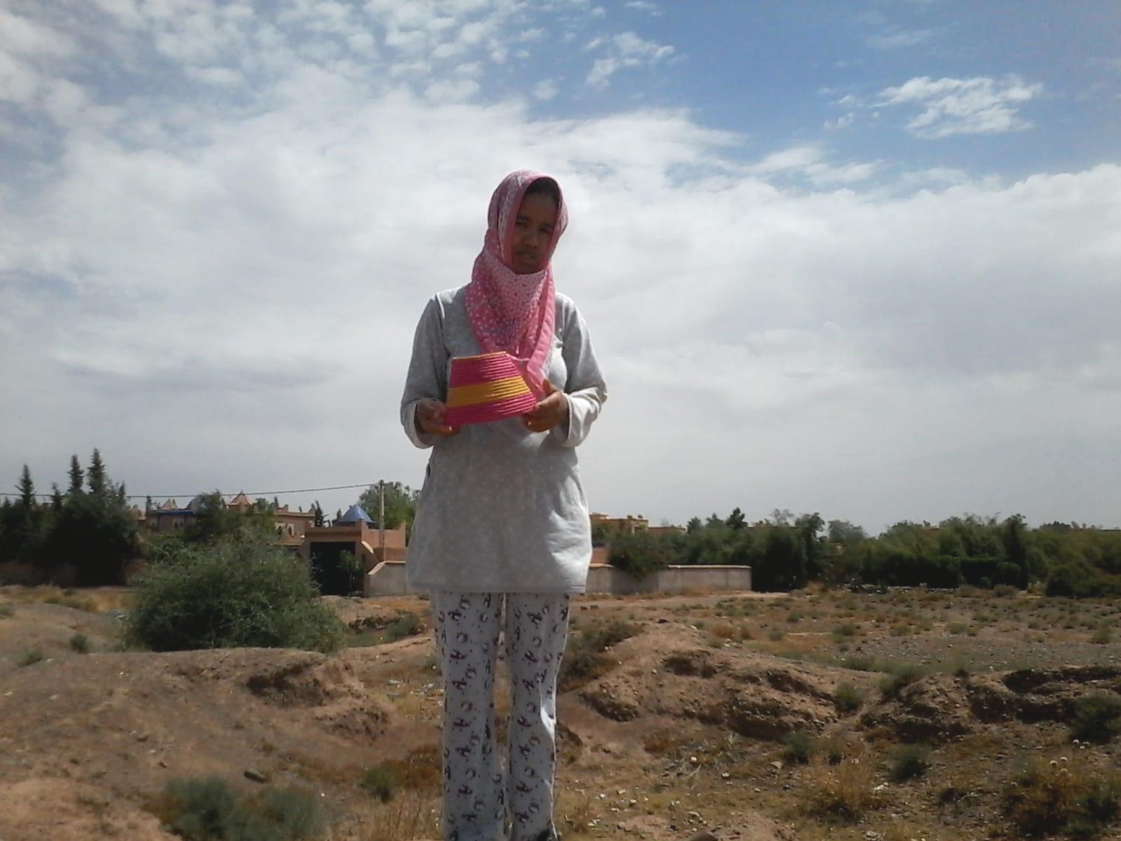 Bottle Holder  Pink, Yellow Morocco
