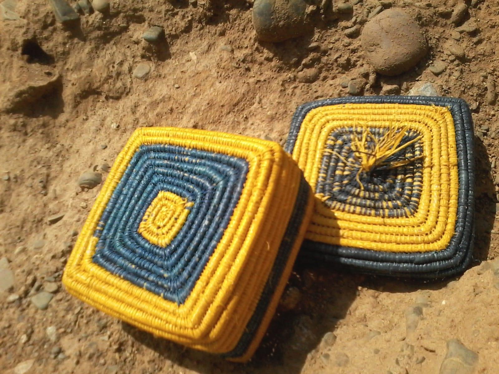 Box  Blue, Yellow Morocco