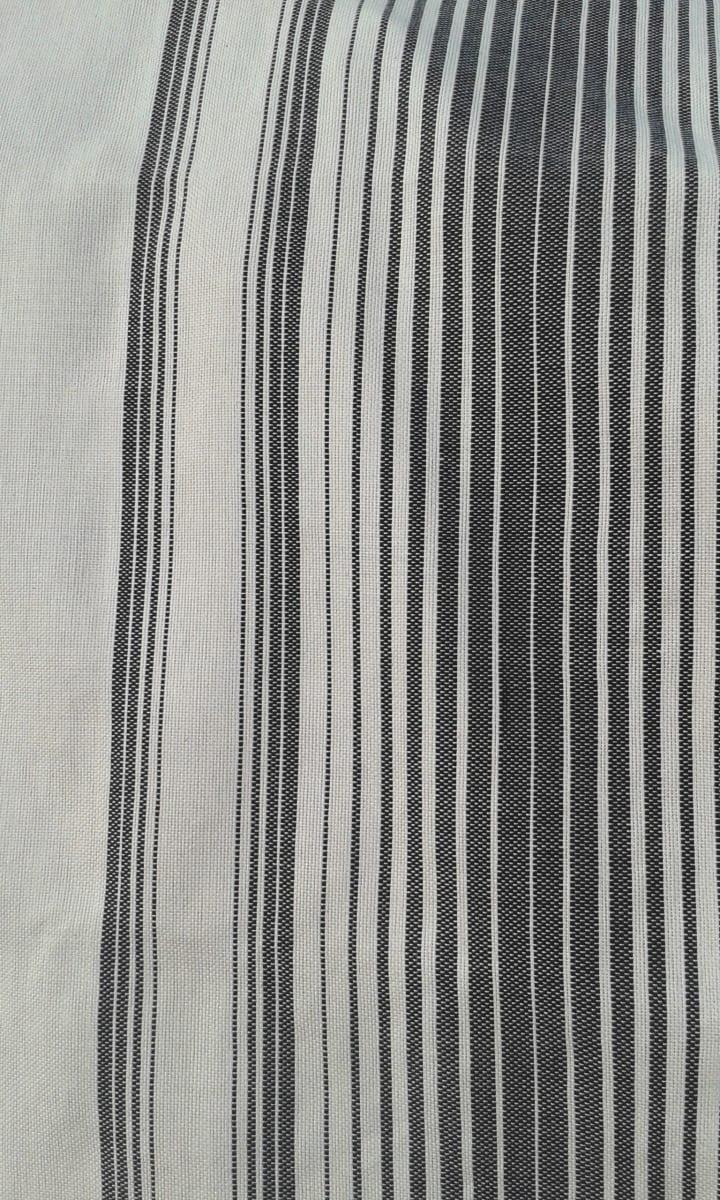 Scarf Cotton Thread Black, White Morocco