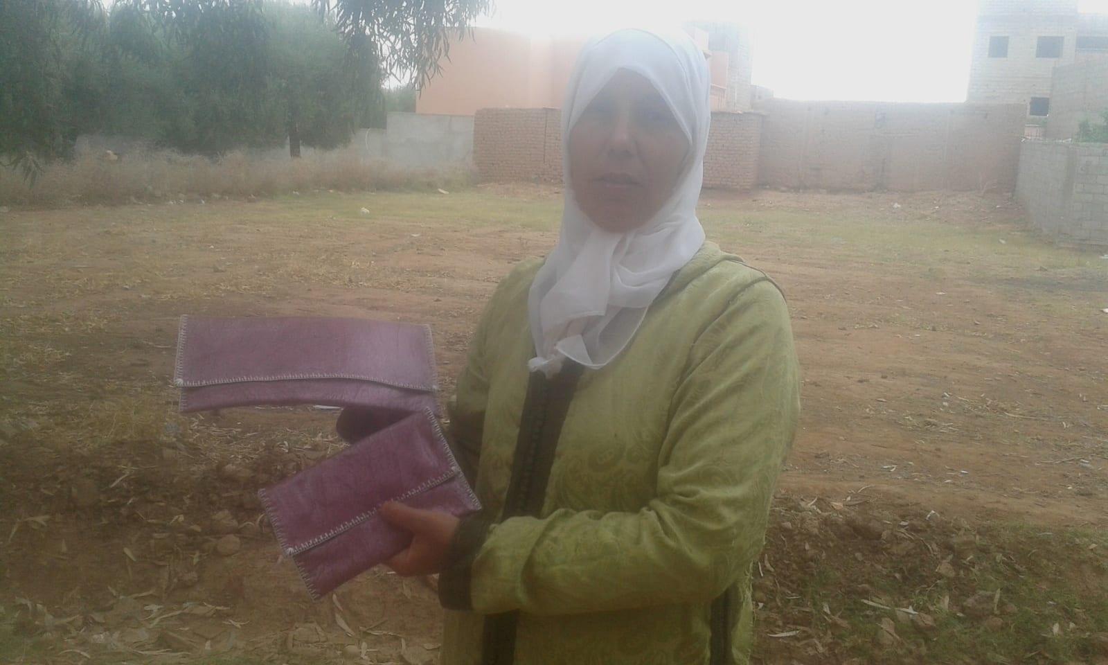 Purse Sabra Thread and Bach  Pink, White Morocco
