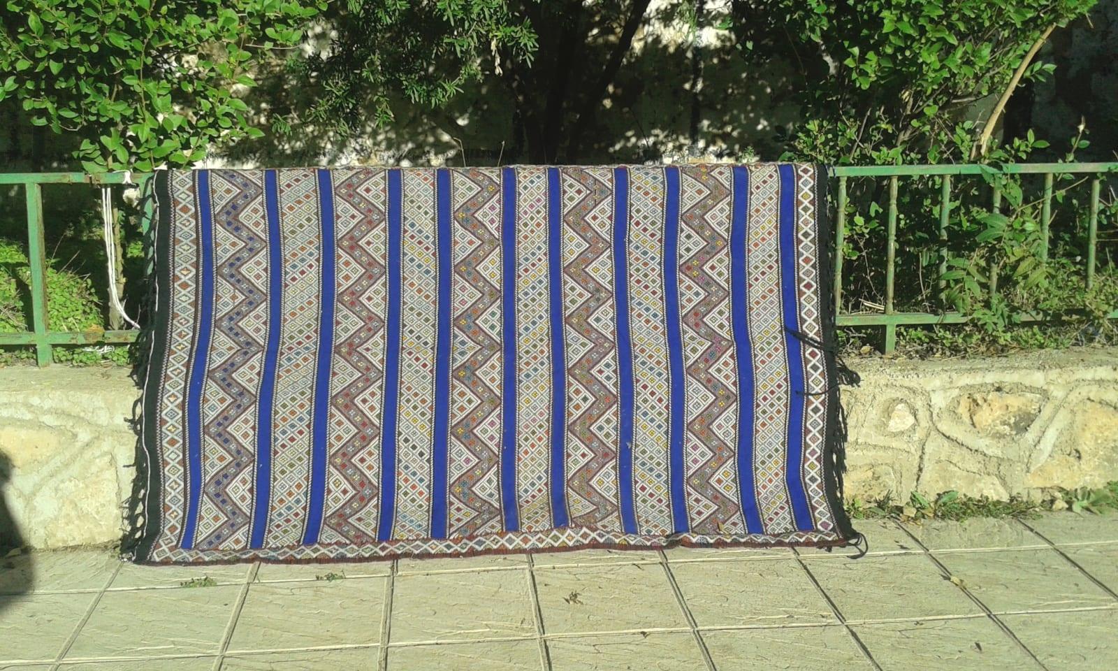Hanbel Wool Blue, Black Morocco