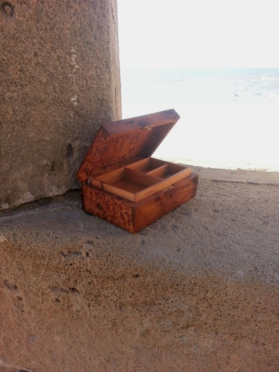 Jewelry Box Thuja Wood Green Morocco