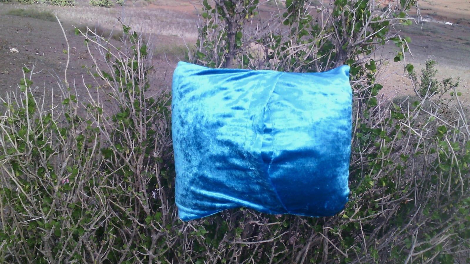 pillow Almbra and super glue Blue, Grey Morocco