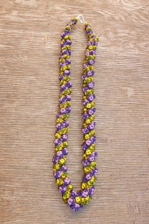 Cluster Necklace  Purple, Yellow Morocco