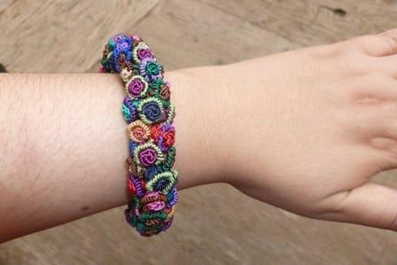 Cluster Bracelet  Colored Morocco
