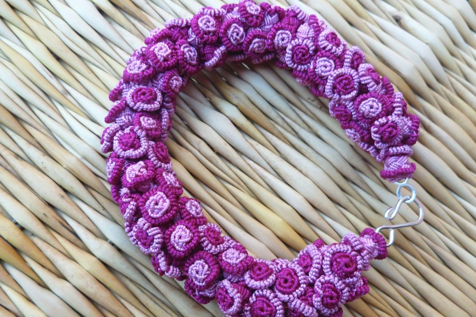 Cluster Bracelet  Pink Morocco