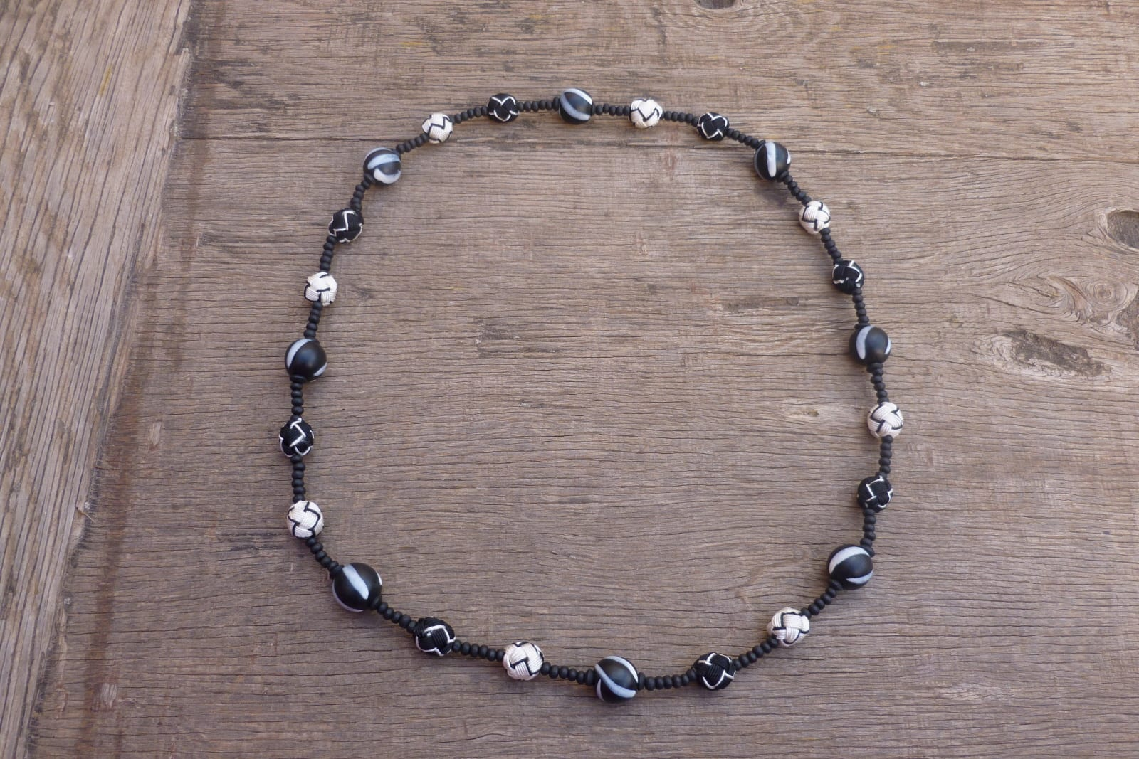 Necklace  Black, White Morocco
