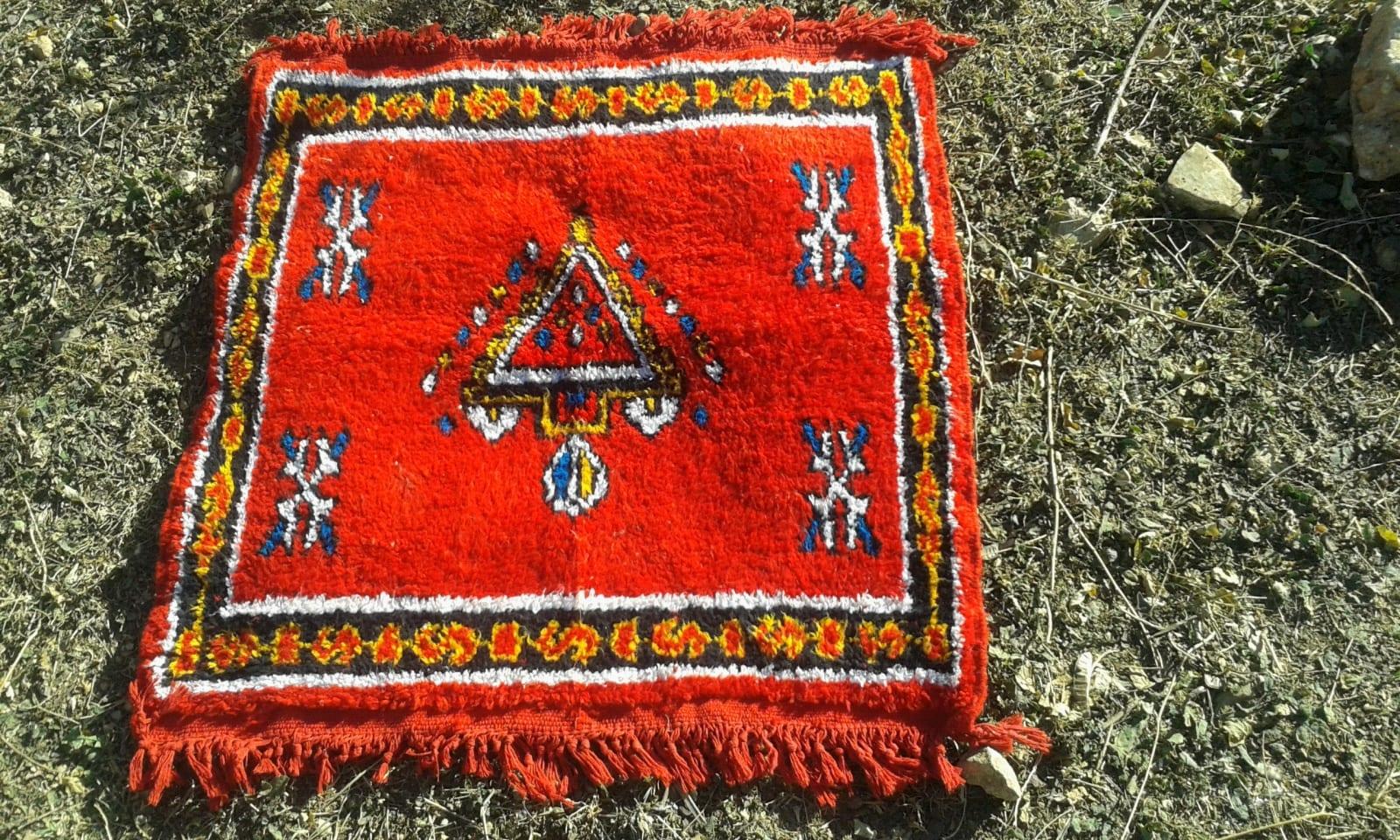 Hanbel Wool Red, Yellow Morocco