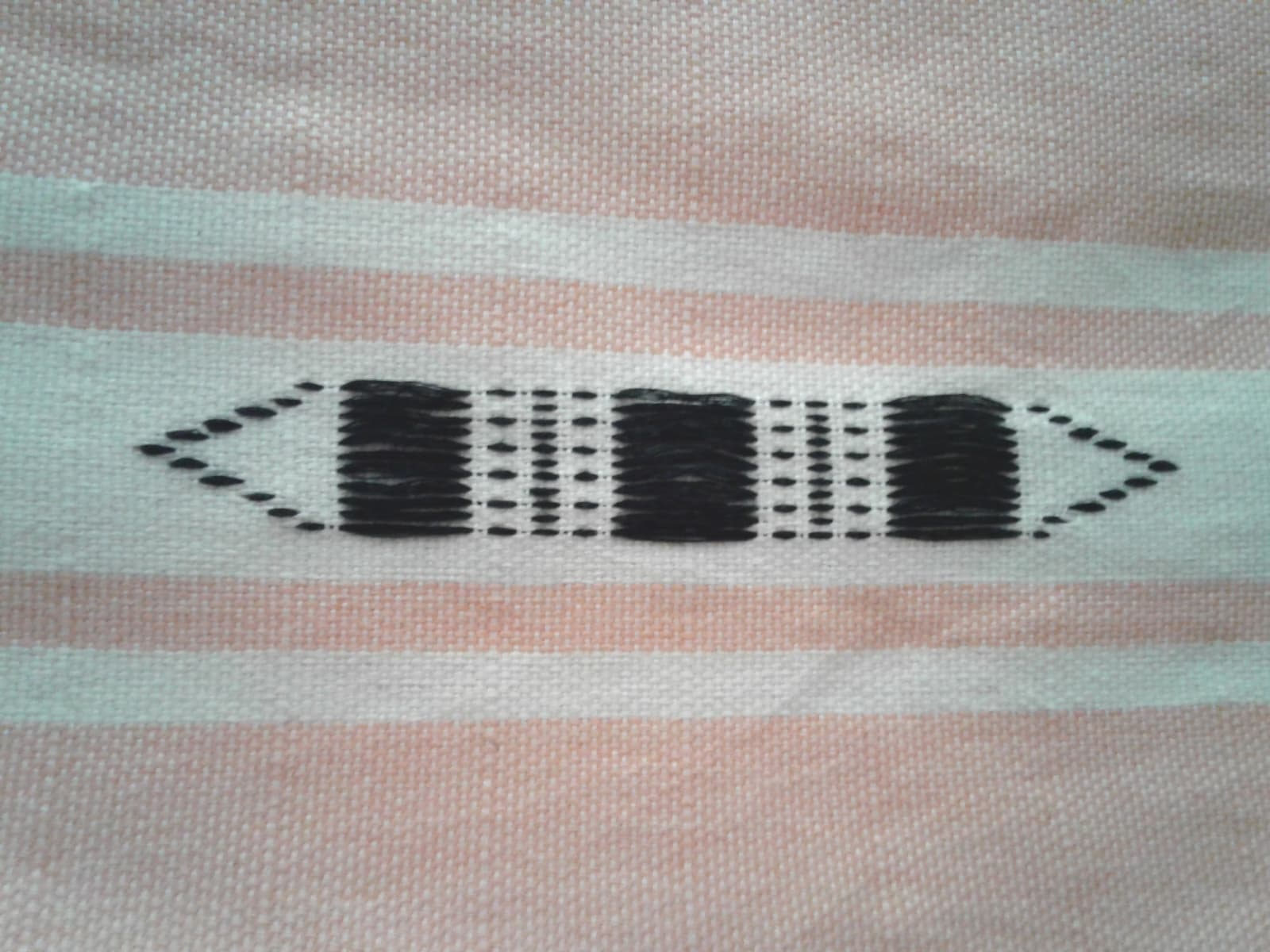 Towel Cotton Thread Orange, Black Morocco
