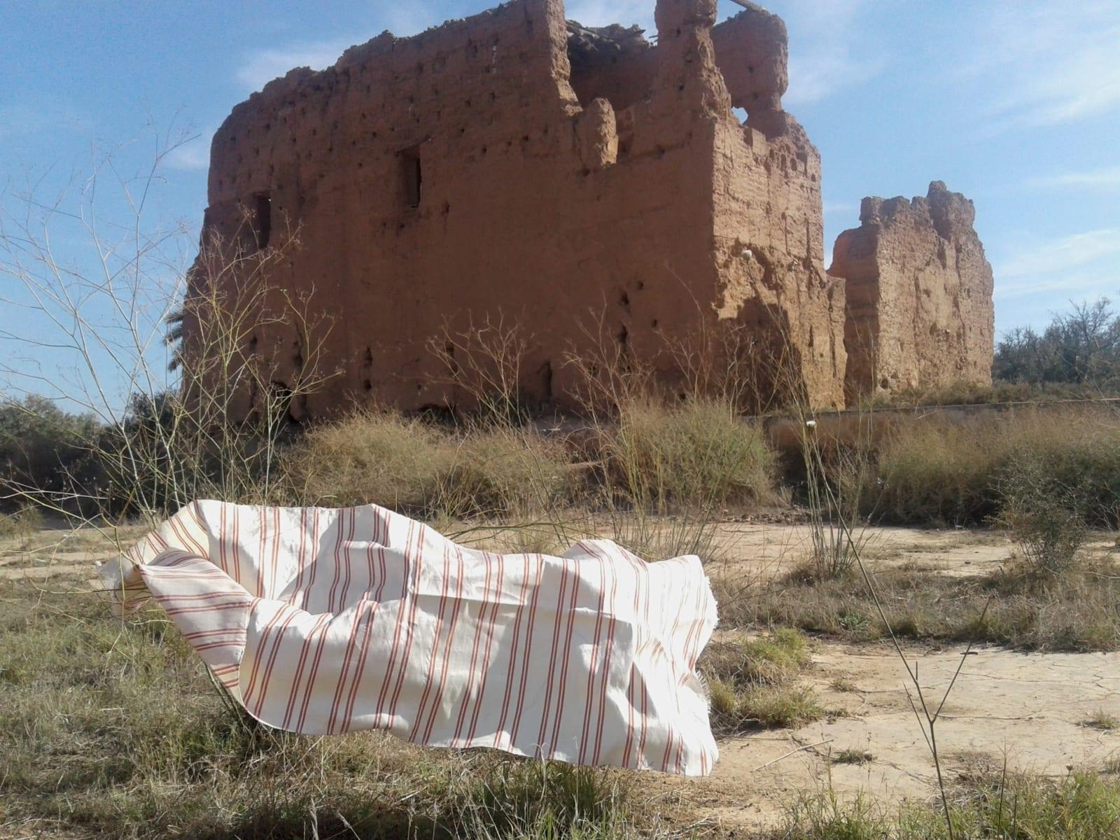 Scarf Sabra Red, Yellow Morocco