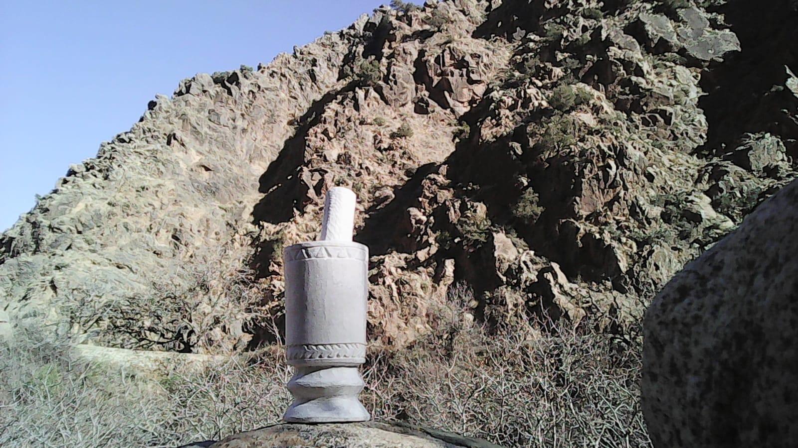 Mortar and Pestle Stone White Morocco
