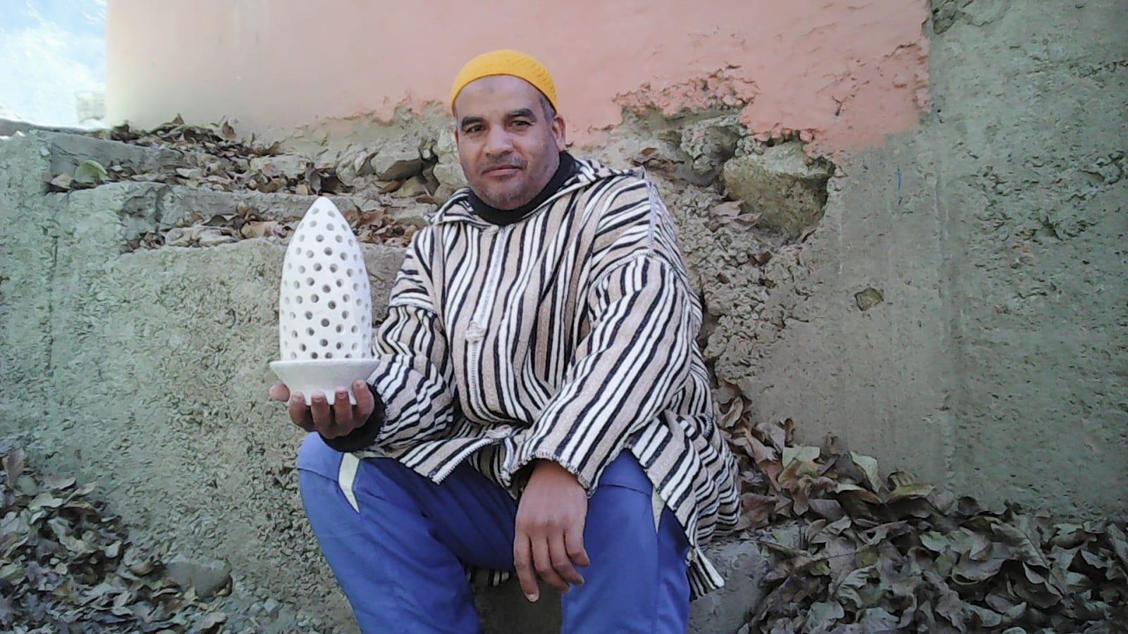 Stone lamp Stone White Morocco
