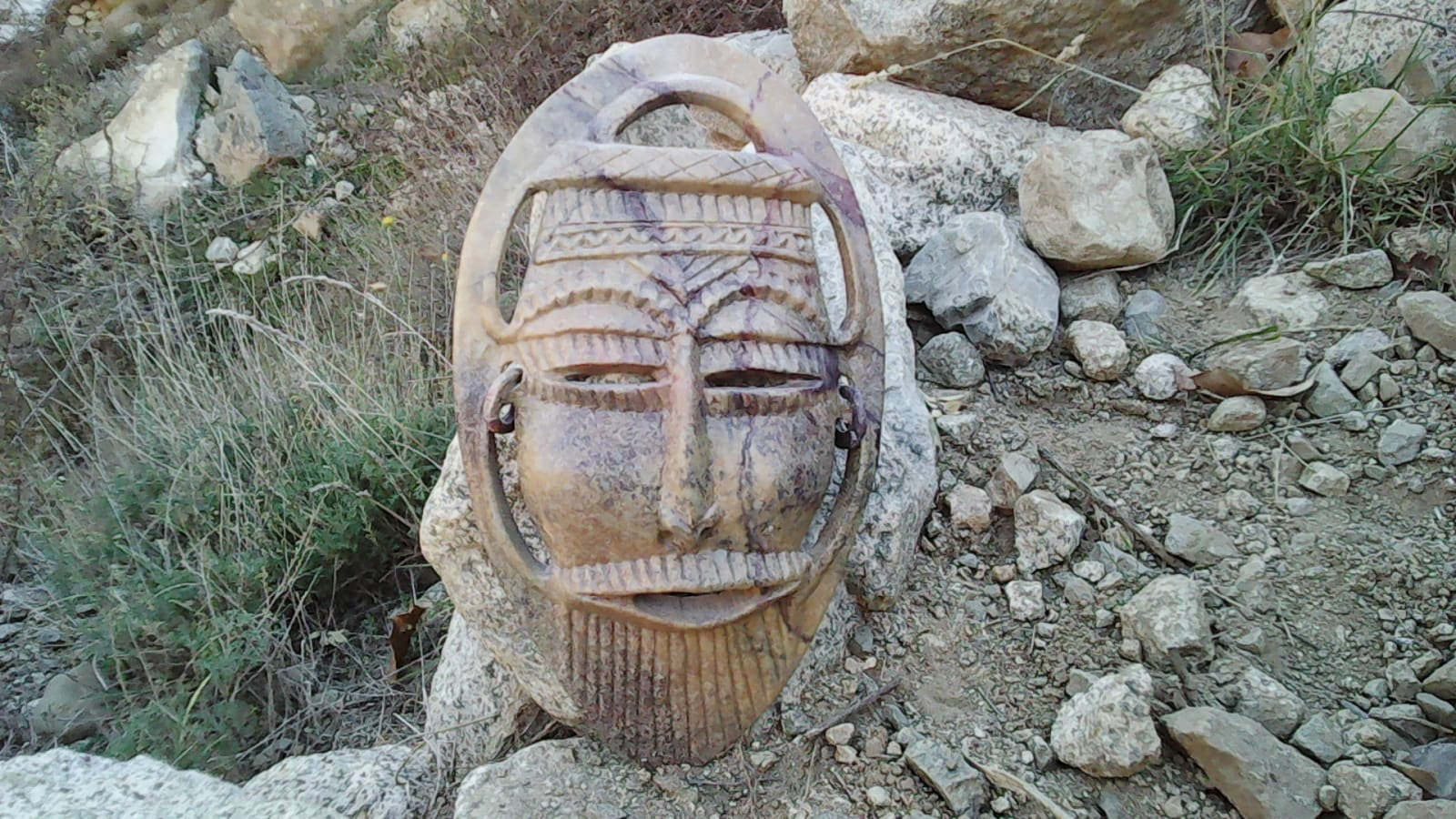 Figurine Stone and Oil Brown Morocco