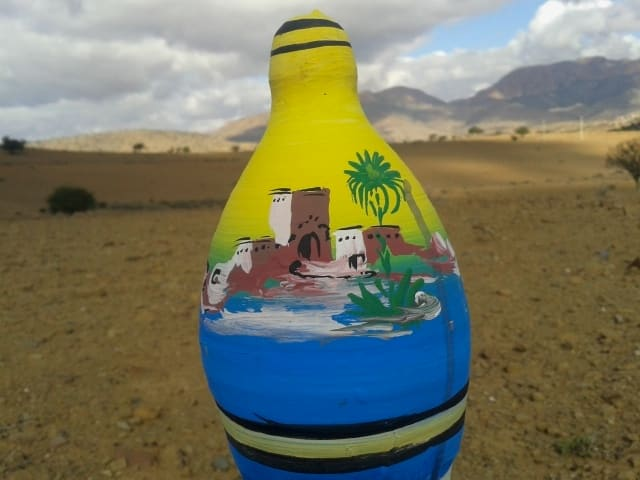 Moneybox Clay and Water color Colored Morocco