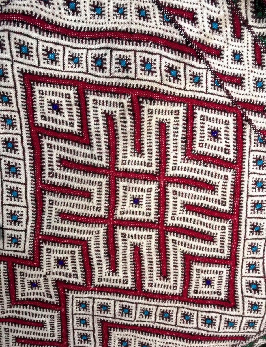 Hanbel Wool Red, Green Morocco