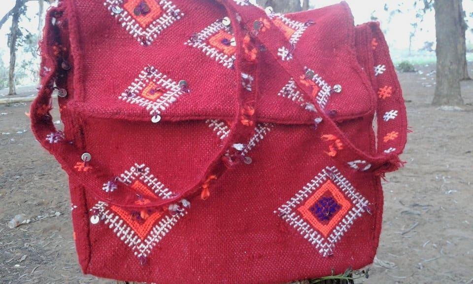 Hanbel tote bag Handmade Warp Colored Morocco