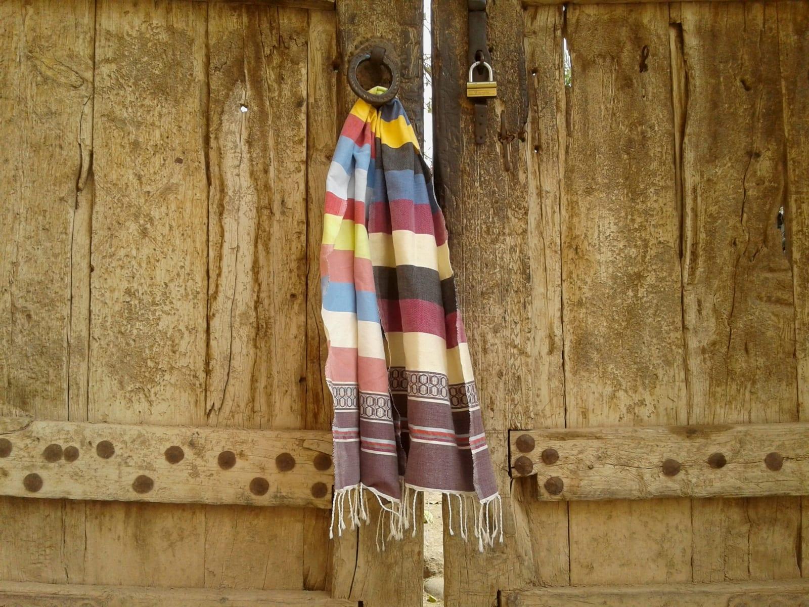 Shawl Cotton Thread Colored Morocco