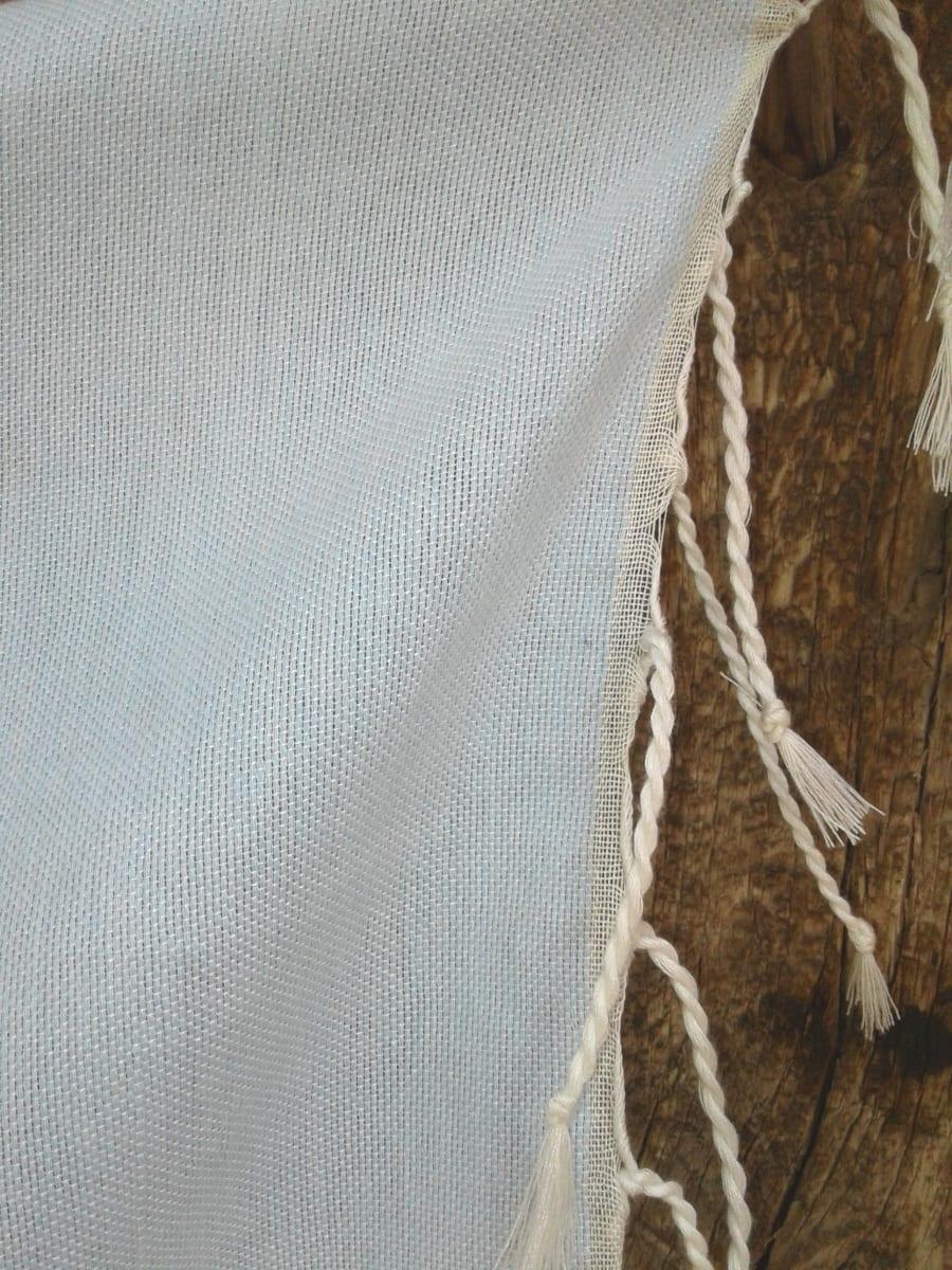 Shawl Cotton Thread Light Blue, Blue Morocco