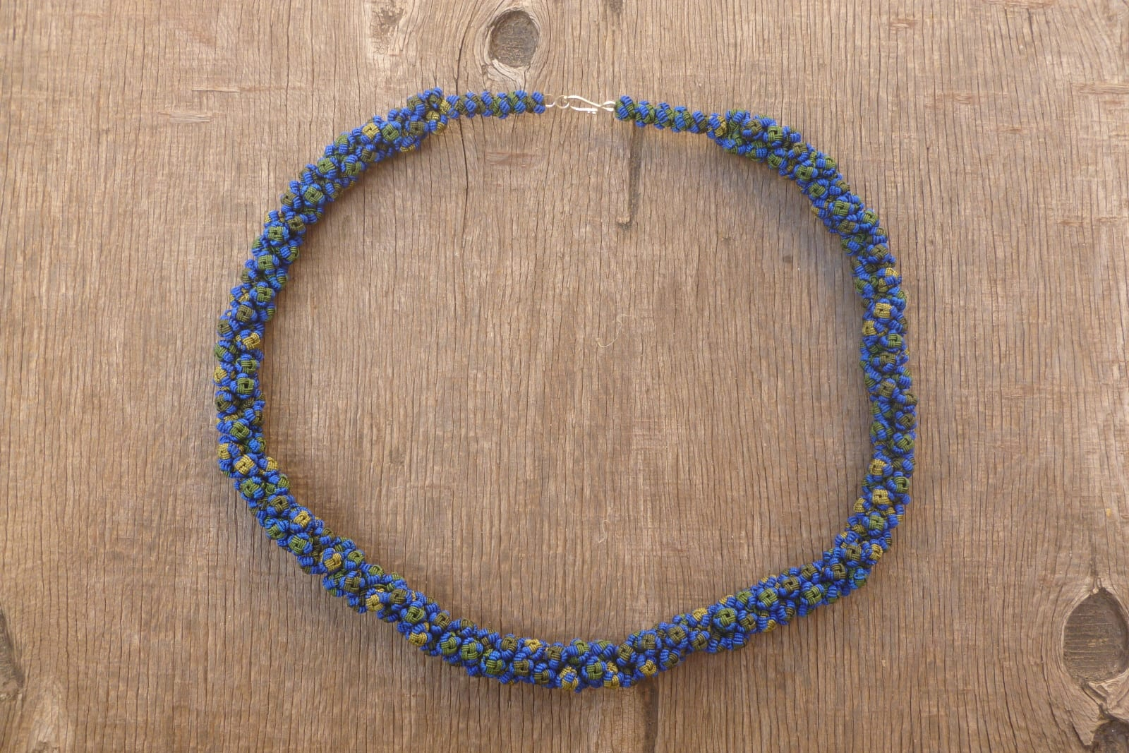 Cluster Necklace  Blue, Green Morocco