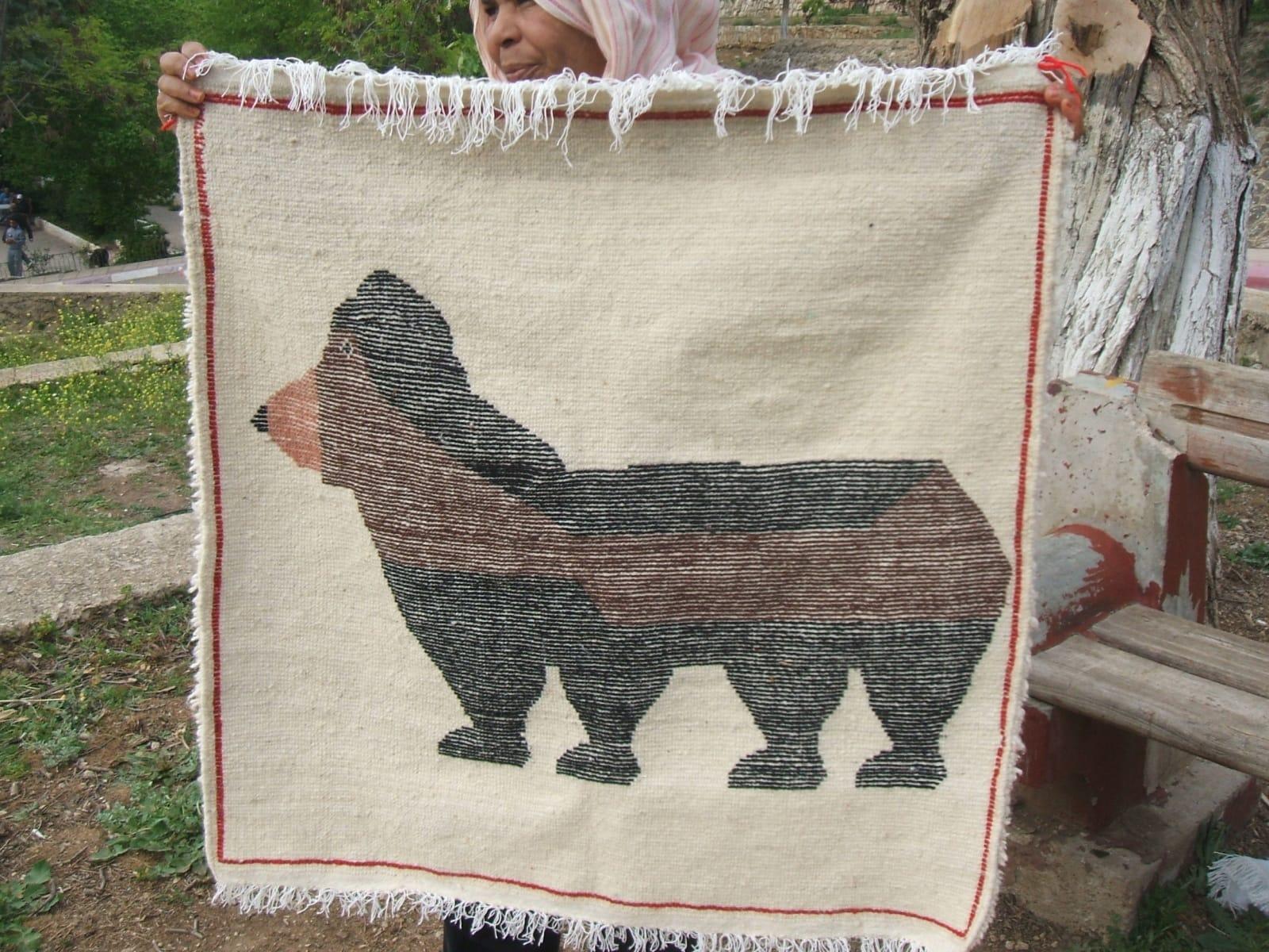 Hanbel Wool Red, Brown Morocco