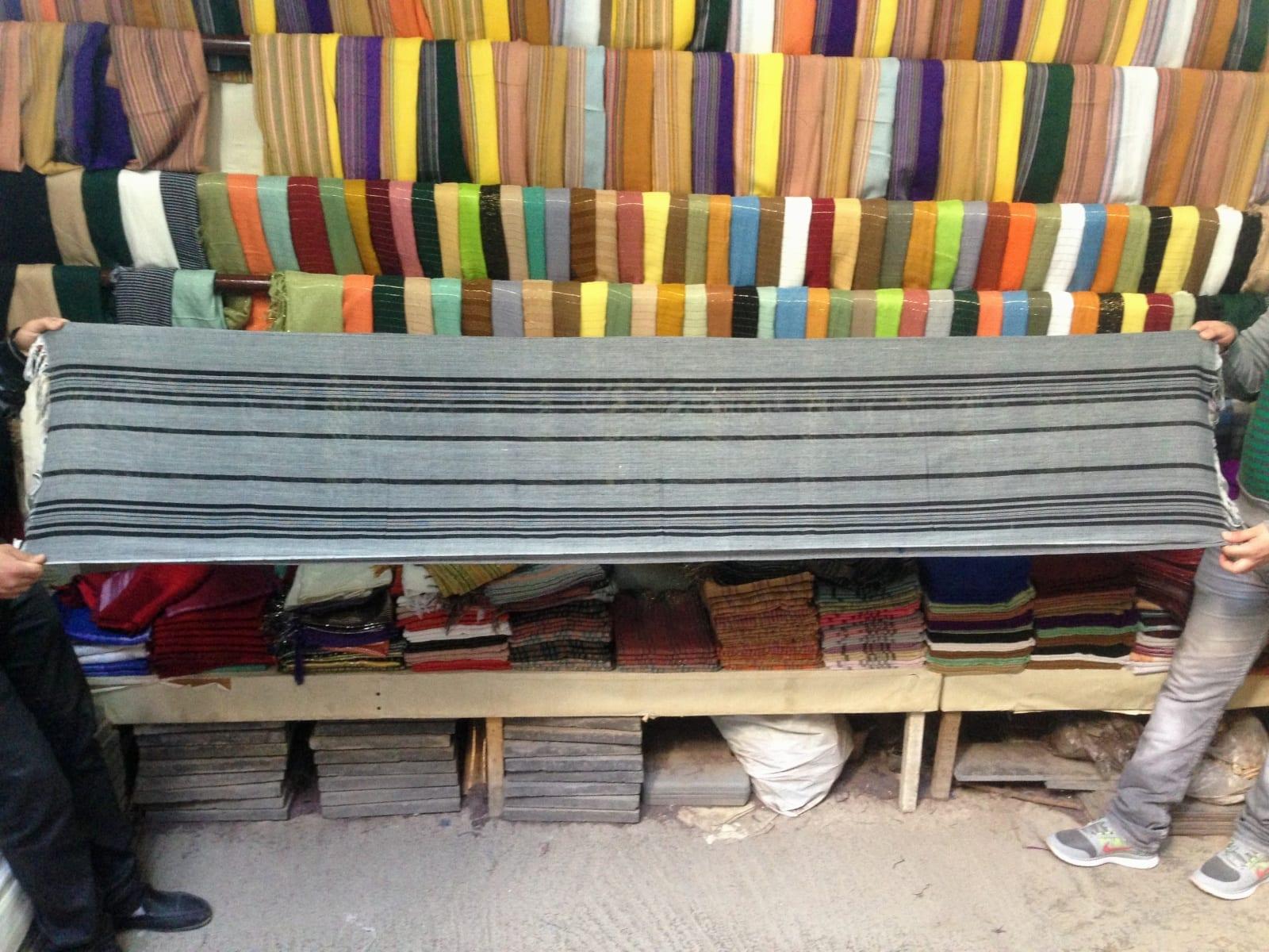 Scarf Cotton string Brown, Black Morocco