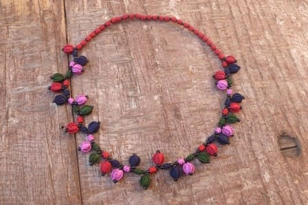 Cluster Necklace  Colored Morocco