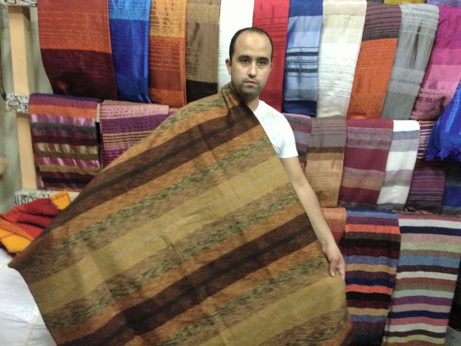 Fabric  Red, Orange Morocco