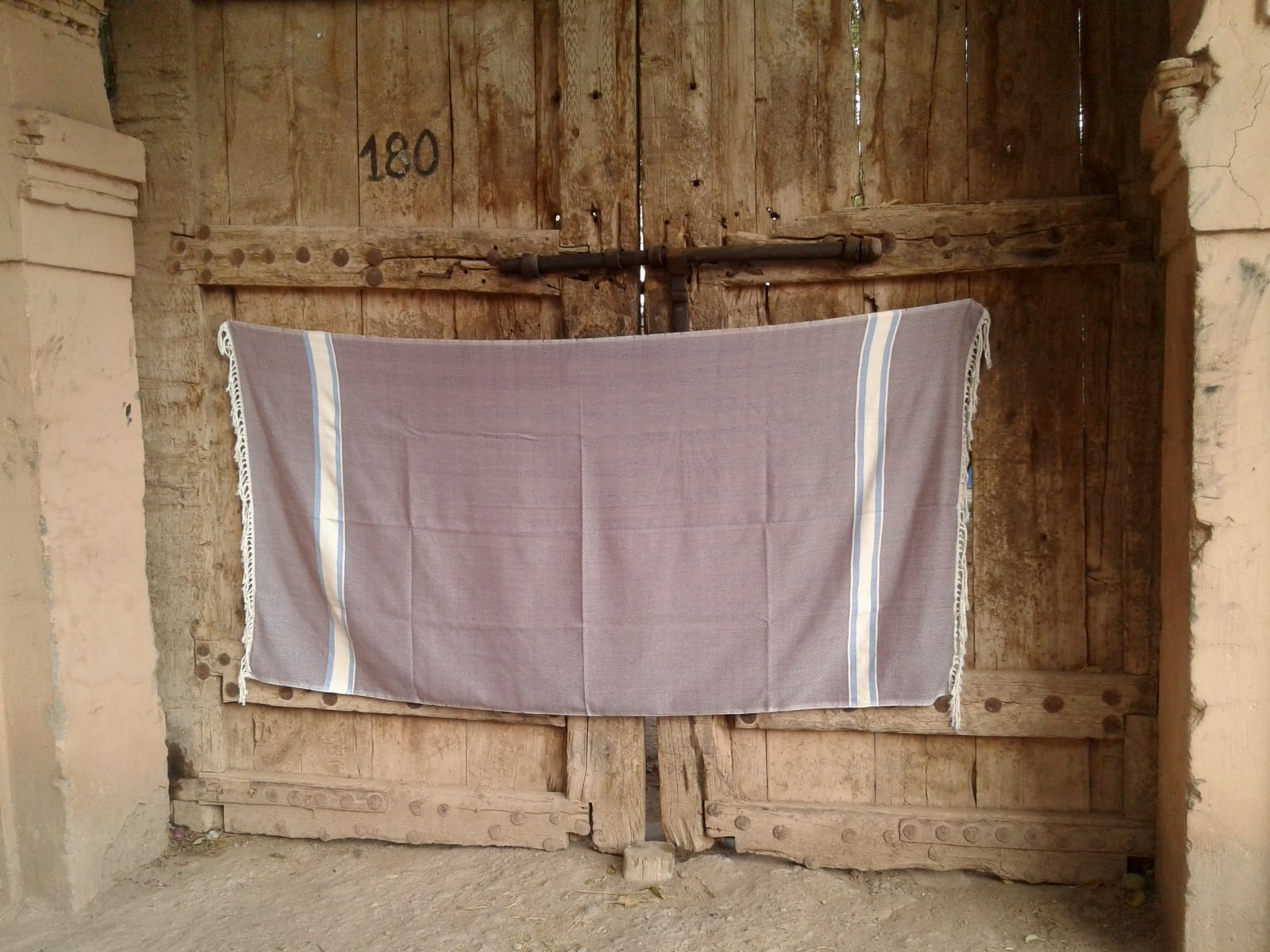 Towel Cotton Thread Purple, Blue Morocco