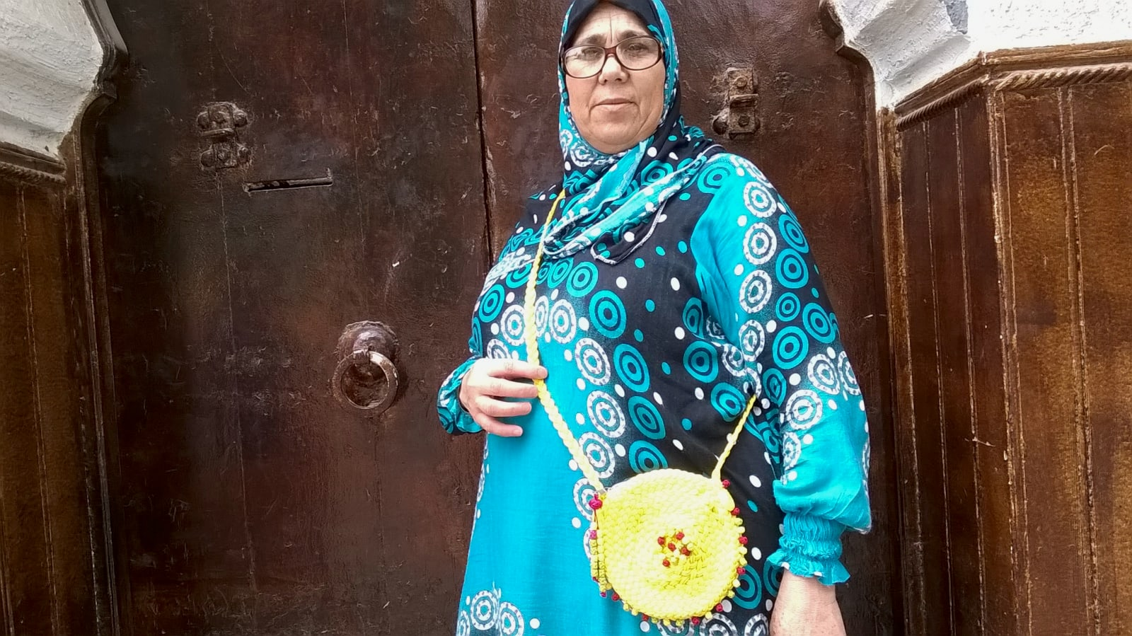 Handbag Yarn  Red, Yellow Morocco