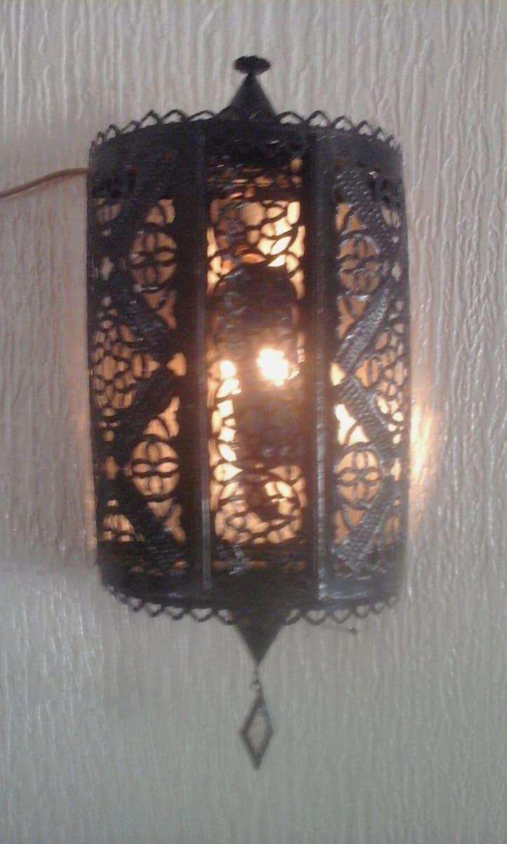 Wall Lantern Steel Black Morocco