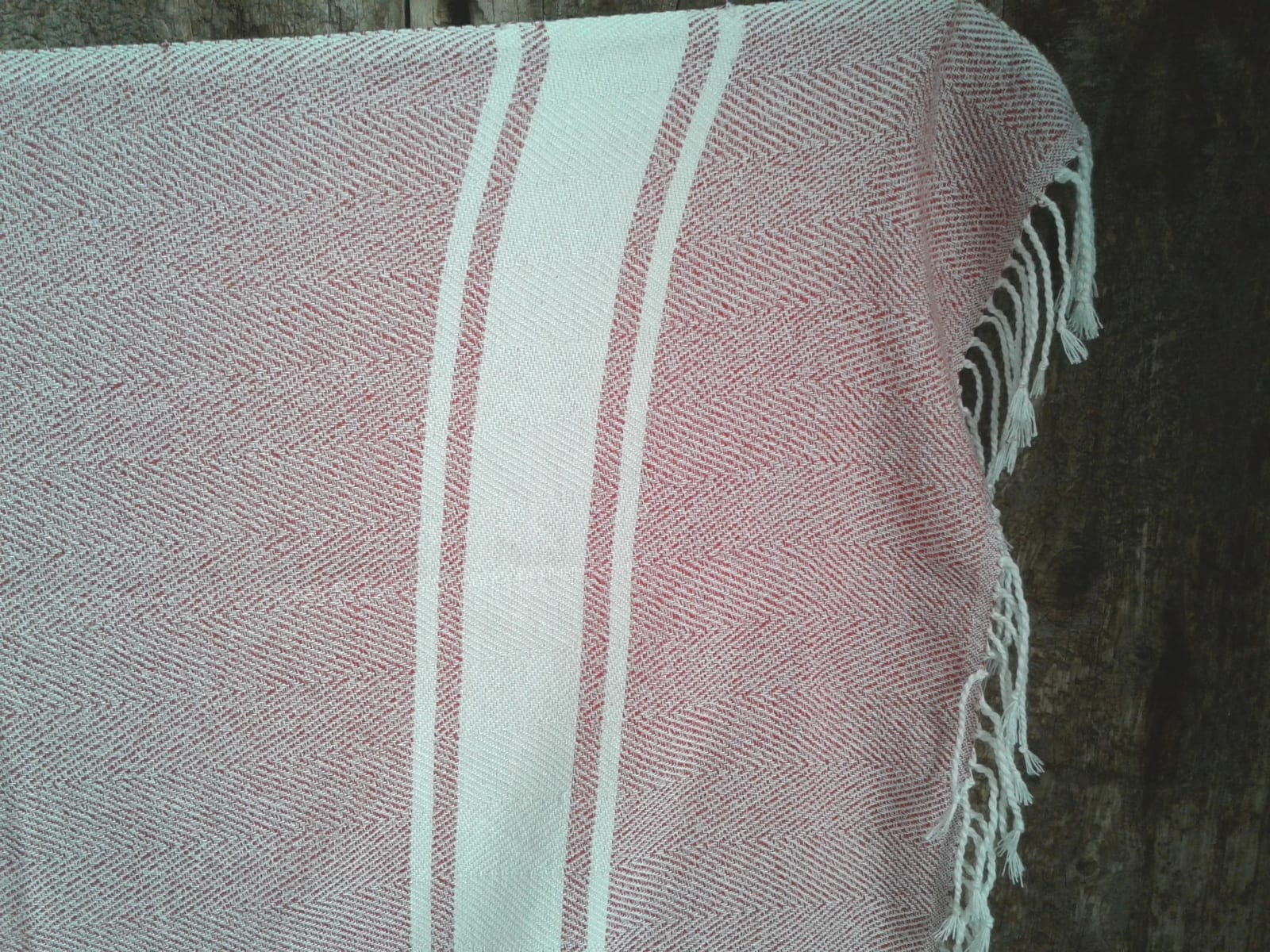 Towel Cotton Thread Red, White Morocco
