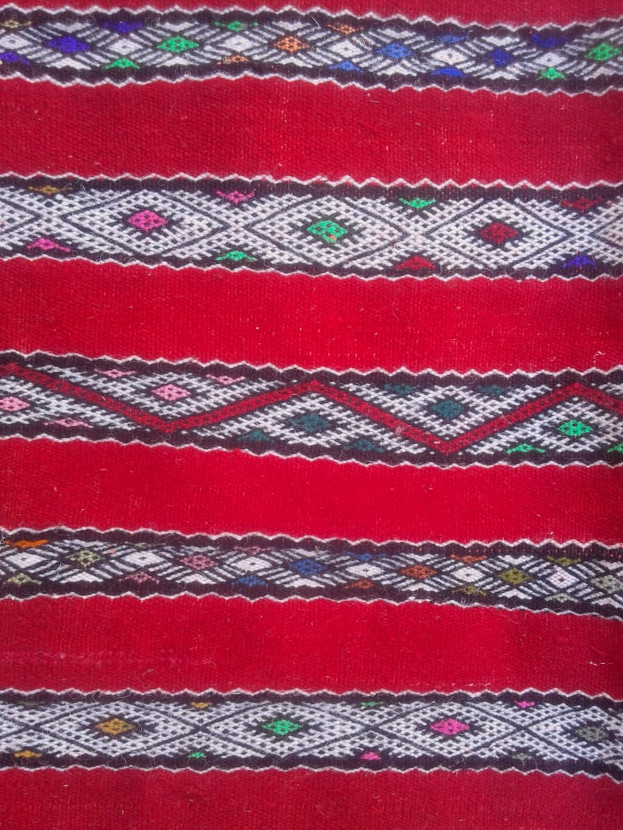 Hanbel  Wool Thread  and Wool Red, Black Morocco