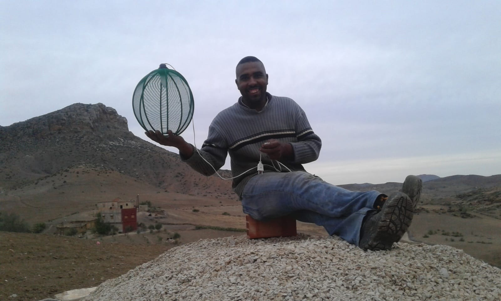 None Metal rod Green Morocco