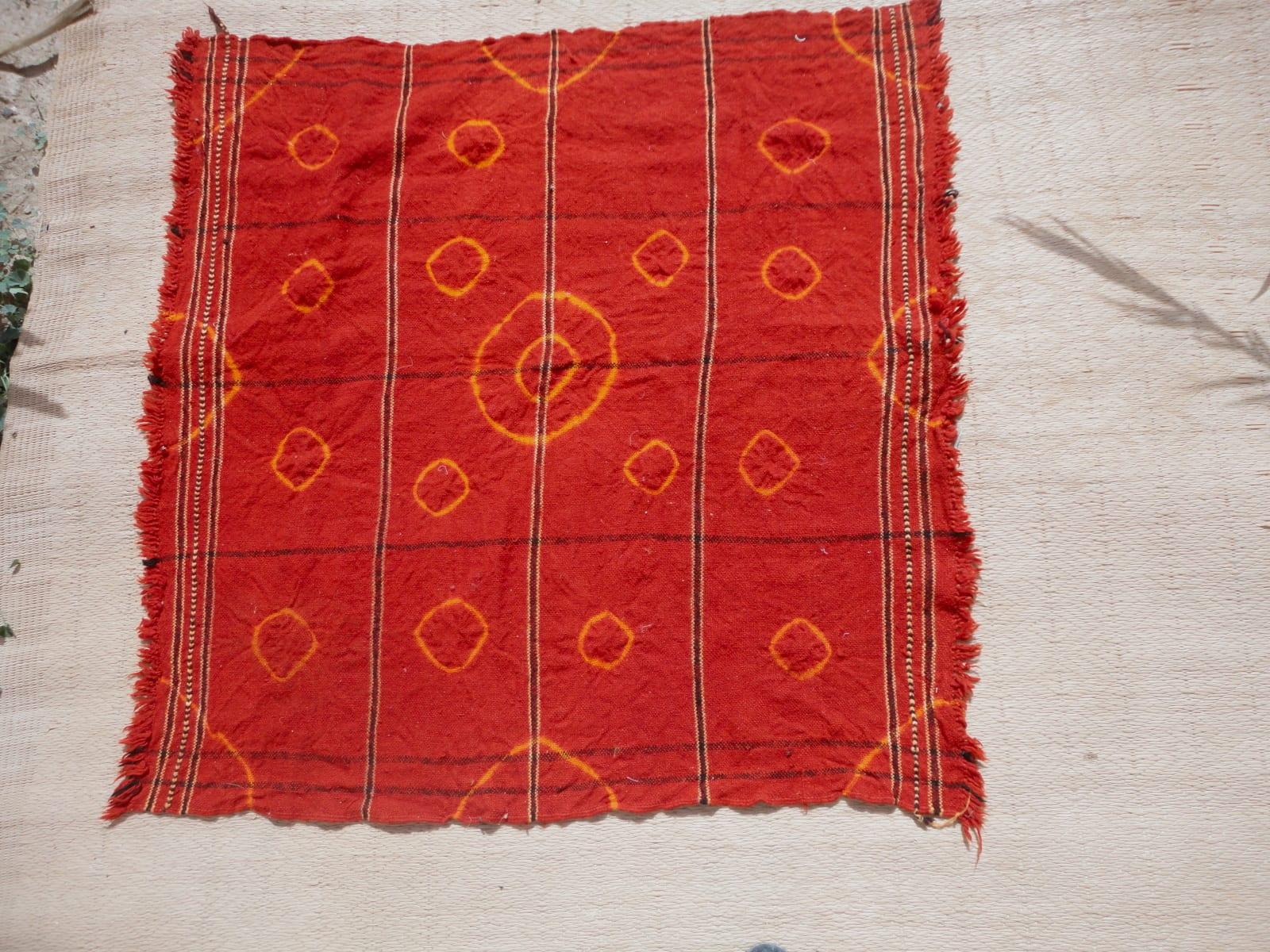 Mendeel Fabric Wool Red, Yellow Morocco