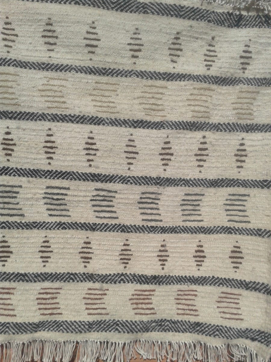 Pile Rug Wool String and Wool Colored Morocco