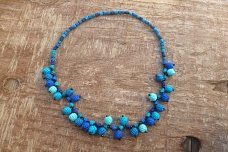 Necklace  Light Blue, Blue Morocco