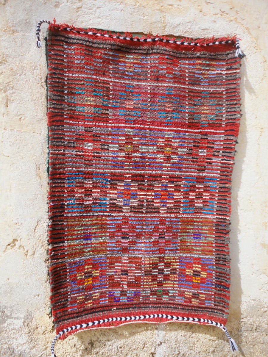 Pile Rug Wool Threads and Wool Colored Morocco